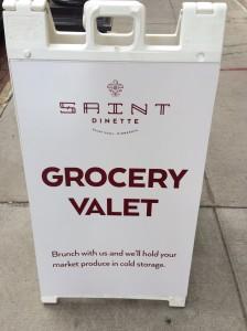 Saint Dinette has Grocery Valet!